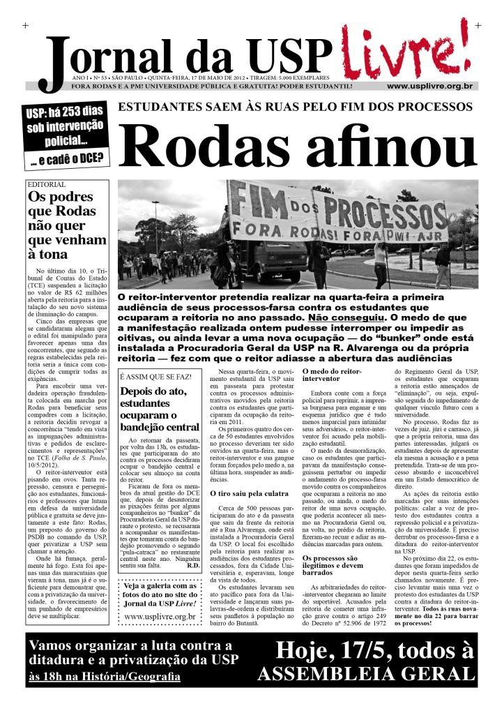 Jornal da USP Livre! nº53 - 17/5/2012