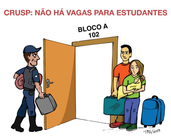 Política da reitoria da USP para moradia estudantil!