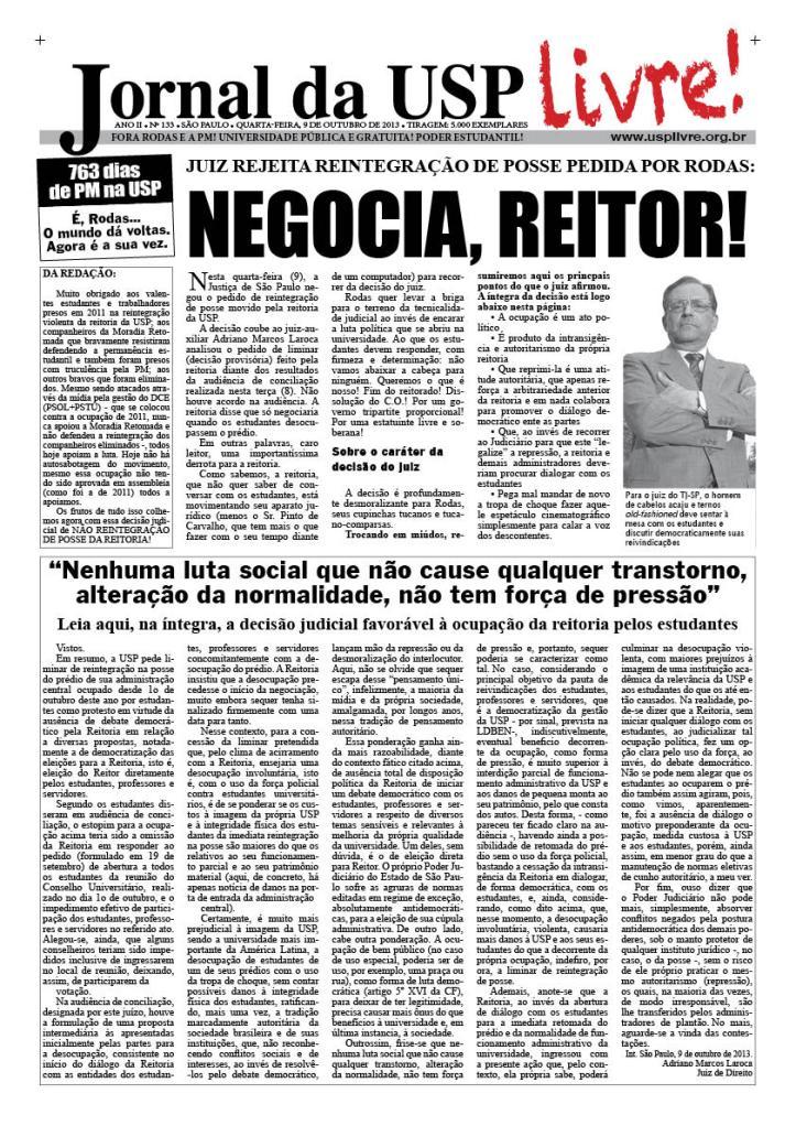 Edição da noite, 9/10/2013
