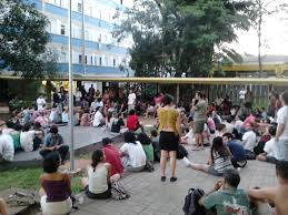 Espaço Àgora, local onde os moradores do CRUSP realizam suas atividades.