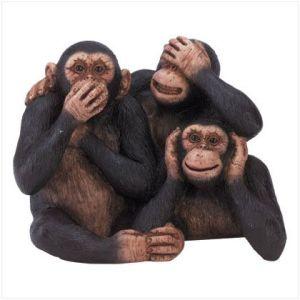 Três macacos sábios: sugestão de fantasia de carnaval.