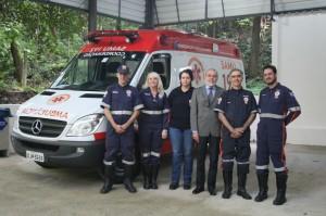 Waldyr Antônio Jorge, ao centro, cancelou o convênio com a Ambulância e paramédicos.